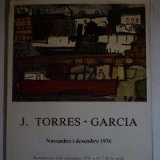 Carteles: JOAQUIN TORRES-GARCIA. GALERIA DAU AL SET. BARCELONA. 1976. Lote 105117087