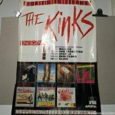 Carteles: THE KINKS. CARTEL. EN GIRA. AÑOS 80.. Lote 105196895