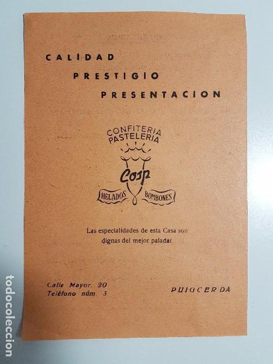 Carteles: FOLLETO SEMANA GRANDE DE PUIGCERDÀ ( 1958 ) CONCURSO TIRO AL PLATO - Foto 2 - 105264843