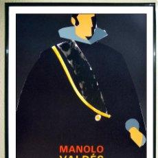 Carteles: CARTEL EXPOSICION - MANOLO VALDES - FELIPE IV - IMPRESIÓN LITOGRÁFICA EN LA GALERÍA MAEGHT EN 1986.. Lote 105861163
