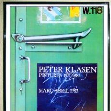 Carteles: CARTEL ORIGINAL EXPOSICIÓN - PETER KLASEN - COMPOSICIÓN SIN TÍTULO GALERÍA MAEGHT BARCELONA 1983.. Lote 105861891