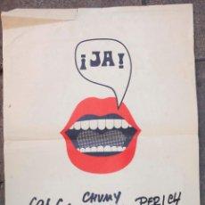 Carteles: CARTEL EXPOSICIÓN CESC, CHUMY CHUMEZ, PERICH, 1971, GALERIA ADRIÀ. 49,5X69CM . Lote 108054439