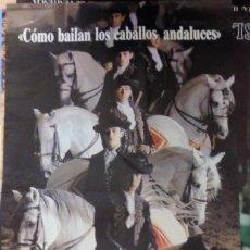Carteles: REAL ESCUELA ANDALUZA DEL ARTE ECUESTRE(COMO BAILAN LOS CABALLOS ANDALUCES,1989,40X70 CMS. Lote 109476467