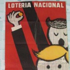 Carteles: CARTEL PÓSTER LOTERÍA NACIONAL. 100 X 70 CM. 1962. Lote 155206576