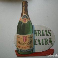 Carteles: EXPOSITOR PUBLICIDAD SIDRA ARIAS EXTRA. CORIAS DE PRAVIA. ASTURIAS 1962 34 X 23 CM. Lote 110093791
