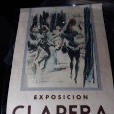 Carteles: CARTEL AÑO 1944 * EXPOSICIÓN CLAPERA , LUZ DE CANDILEJAS * SALA ROVIRA ( 38 X 25 ). Lote 110213239