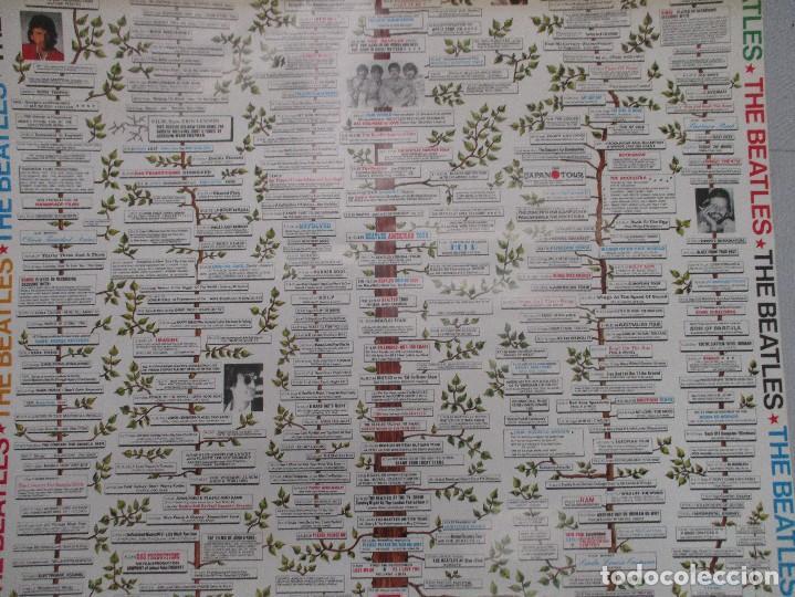 Carteles: GRAN CARTEL ORIGINAL DEL ARBOL GENEALOGICO DE LOS BEATLES DESDE SUS COMIENZOS. 96 CM X 69 CMA - Foto 3 - 110569415