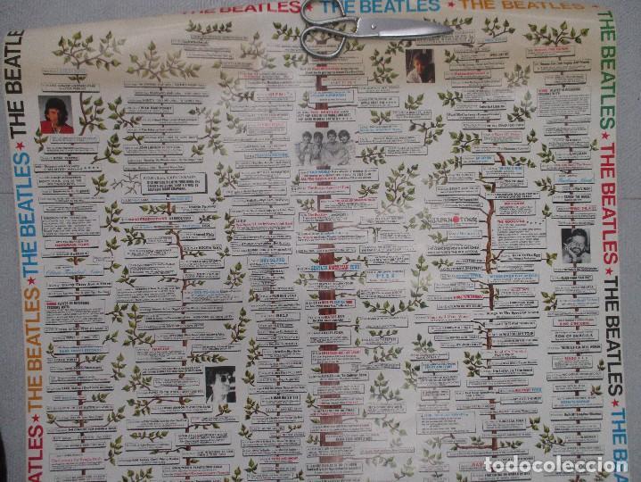 Carteles: GRAN CARTEL ORIGINAL DEL ARBOL GENEALOGICO DE LOS BEATLES DESDE SUS COMIENZOS. 96 CM X 69 CMA - Foto 4 - 110569415
