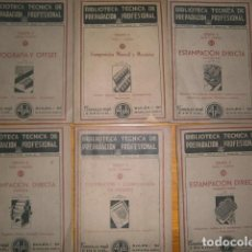 Carteles: BIBLIOTECA TECNICA DE PREPARACION PROFESIONAL ESTAMPACION DIRECTA AÑOS 60 70 APROSIMADAMENTE. Lote 110804651