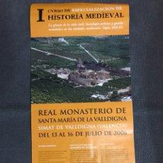 Carteles: CARTEL. I CURSO DE ESPECIALIZACIÓN HISTORIA MEDIEVAL (A.2006). Lote 111712076