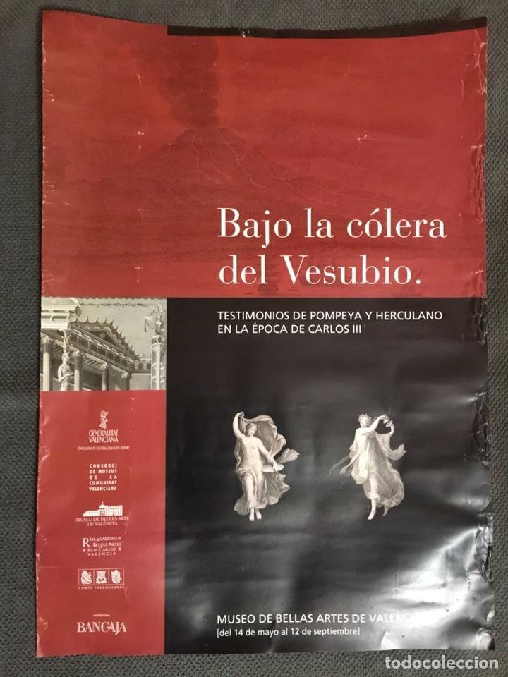 CARTEL. BAJO LA COLERA DEL VESUBIO. EXPOSICIÓN VALENCIA (A.2004) (Coleccionismo - Carteles Gran Formato - Carteles Varios)