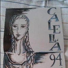 Carteles: CALELLA - 1994 - ELECCIÓ DE LA PUBILLA DE CATALUNYA - 14-15 DE MAIG - PUB. FERMALLI MARESME MATARO. Lote 113321923