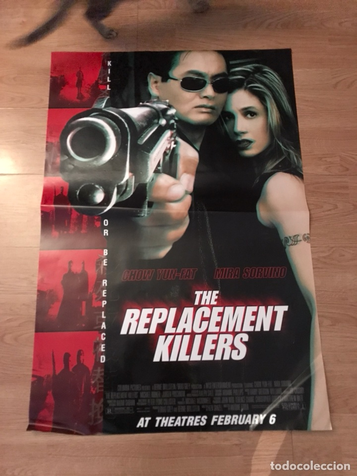 Antiguo póster cartel de cine de the replacement killers