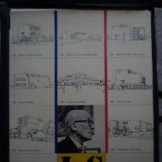 Carteles: LE CORBUSIER. 1887-1965. COL INSTITUTO DI ANÀLISI ARCHITECTTONICA DI NAPOLI. 1980. Lote 114638391
