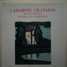 Carteles: GINES PARRA. CAMAROTE GRANADOS. HOTEL MANILA. BARCELONA. 1974. Lote 114718031