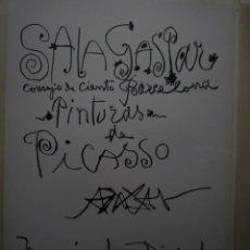 Carteles: PICASSO. PINTURAS. SALA GASPAR. BARCELONA. 1990. Lote 114718615