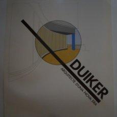Carteles: DUIKER. COL.LEGI D'ARQUITECTES DE CATALUNYA. BARCELONA. 1985. Lote 115033883