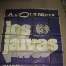 Carteles: LOS JAIVAS. CARTEL CONCIERTO L'OLYMPIA DE PARIS EN 1978. BANDA DE ROCK PROGRESIVO CHILENO.180 X 150 . Lote 115277879