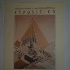 Carteles: IV CONGRESO INTERNACIONALD E EXRESIÓN GRÁFICA ARQUITECTÓNICA. VALLADOLID. 1992. Lote 115321047