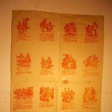 Carteles: ANTIGUO CARTEL DE CHISTES. Lote 115534135