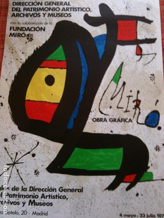 MIRO-FUNDACION MIRO,PINTURA OBRA GRAFICA 1978-ORIGINAL (Coleccionismo - Carteles Gran Formato - Carteles Varios)