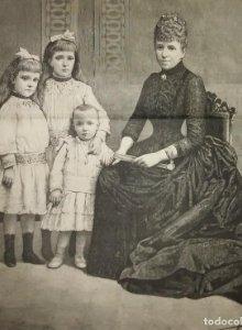 1888 La familia real de España. La ilustración Española y Americana. J.Bardillo. Fernando Debas