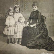 Carteles: 1888 LA FAMILIA REAL DE ESPAÑA. LA ILUSTRACIÓN ESPAÑOLA Y AMERICANA. J.BARDILLO. FERNANDO DEBAS. Lote 118025735