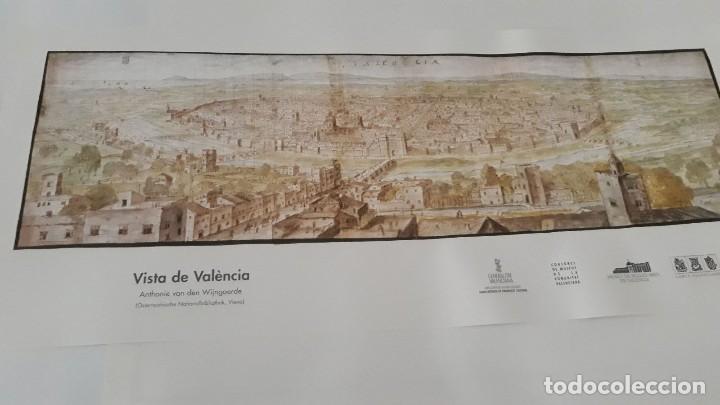 CARTEL ACTUAL VISTA DE VALENCIA DEL DIBUJO DEL SIGLO XVI DE ANTON WYNGAERDE (Coleccionismo - Carteles Gran Formato - Carteles Varios)