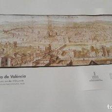Carteles: CARTEL ACTUAL VISTA DE VALENCIA DEL DIBUJO DEL SIGLO XVI DE ANTON WYNGAERDE. Lote 118705063