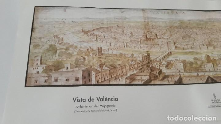 Carteles: Cartel actual Vista de Valencia del dibujo del siglo XVI de Anton Wyngaerde - Foto 2 - 118705063