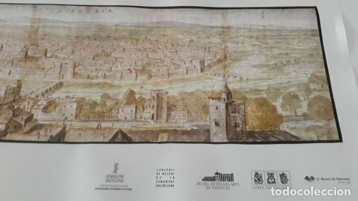 Carteles: Cartel actual Vista de Valencia del dibujo del siglo XVI de Anton Wyngaerde - Foto 4 - 118705063