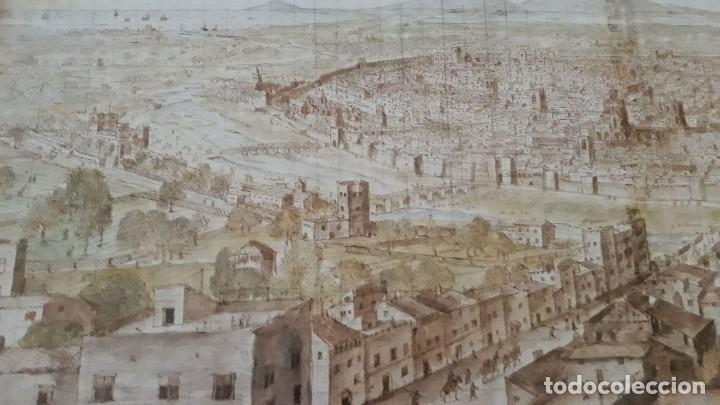 Carteles: Cartel actual Vista de Valencia del dibujo del siglo XVI de Anton Wyngaerde - Foto 5 - 118705063