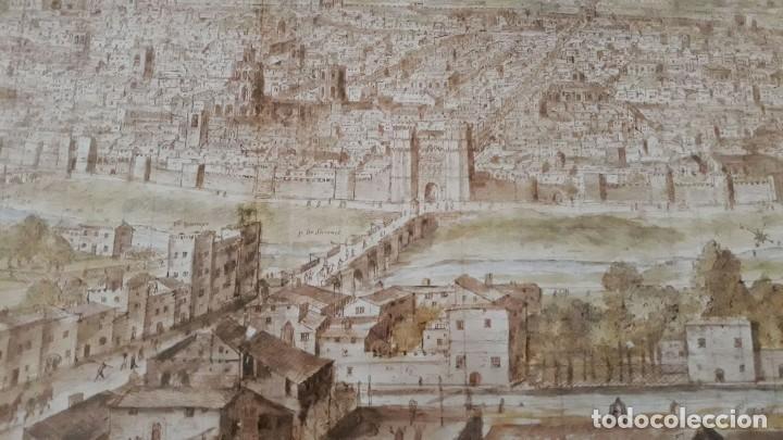 Carteles: Cartel actual Vista de Valencia del dibujo del siglo XVI de Anton Wyngaerde - Foto 6 - 118705063