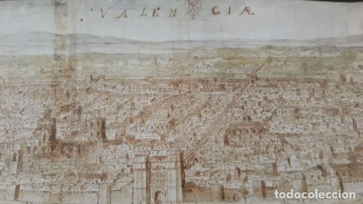 Carteles: Cartel actual Vista de Valencia del dibujo del siglo XVI de Anton Wyngaerde - Foto 9 - 118705063