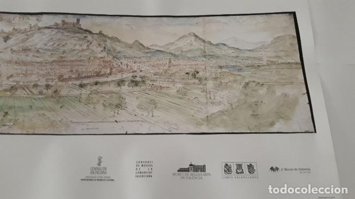 Carteles: Cartel actual Vista de Xàtiva, Xativa o Játiva del dibujo del siglo XVI de Anton Wyngaerde - Foto 4 - 118705207