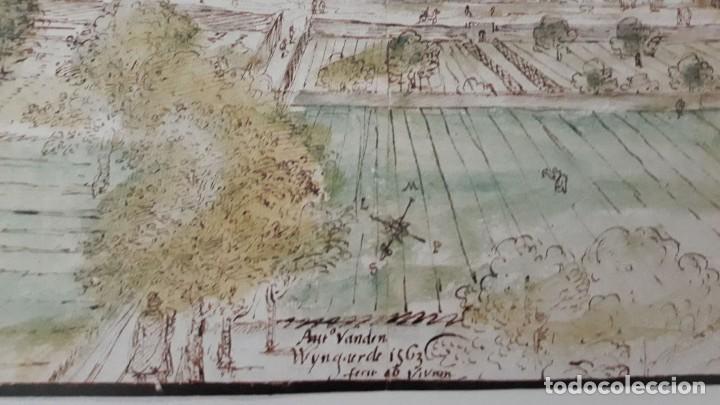 Carteles: Cartel actual Vista de Xàtiva, Xativa o Játiva del dibujo del siglo XVI de Anton Wyngaerde - Foto 6 - 118705207