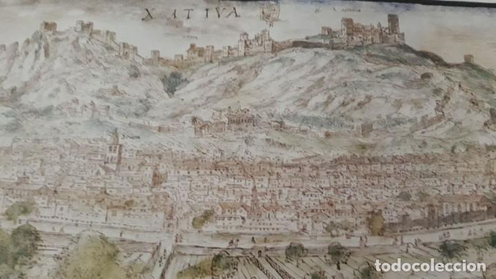 Carteles: Cartel actual Vista de Xàtiva, Xativa o Játiva del dibujo del siglo XVI de Anton Wyngaerde - Foto 8 - 118705207