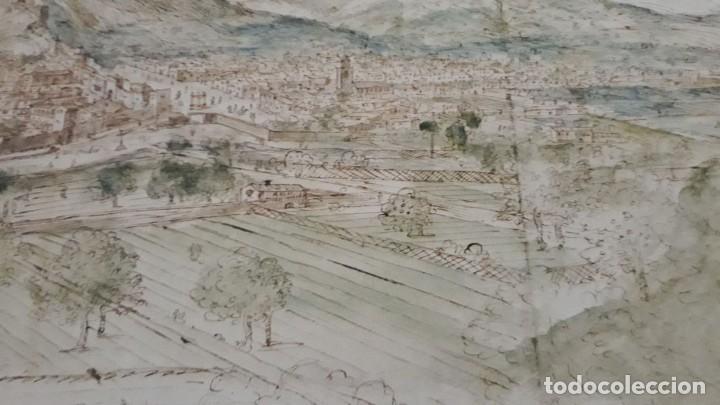 Carteles: Cartel actual Vista de Xàtiva, Xativa o Játiva del dibujo del siglo XVI de Anton Wyngaerde - Foto 10 - 118705207