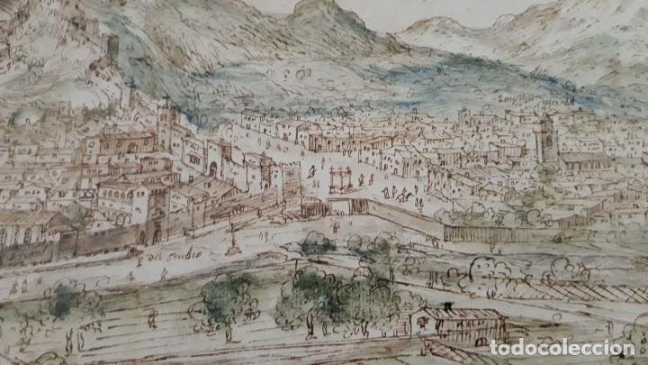Carteles: Cartel actual Vista de Xàtiva, Xativa o Játiva del dibujo del siglo XVI de Anton Wyngaerde - Foto 11 - 118705207