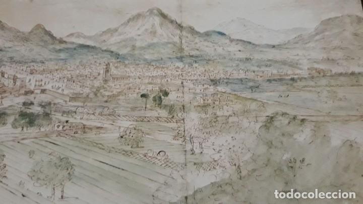 Carteles: Cartel actual Vista de Xàtiva, Xativa o Játiva del dibujo del siglo XVI de Anton Wyngaerde - Foto 12 - 118705207