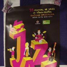 Carteles: CARTEL 35º FESTIVAL DE JAZZ DE VITORIA-GASTEIZ JULIO 2011 - TAMAÑO 68 X 40 CMS.. Lote 119456379