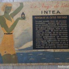 Carteles: CARTEL DE PUBLICIDAD INTEA . Lote 119967007