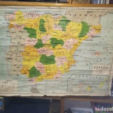 Carteles: CARTEL O LÀMINA, ANTIGUO MAPA DESPLEGABLE POR PROVINCIAS DE ESPAÑA. USO ESCOLAR.. Lote 165229090