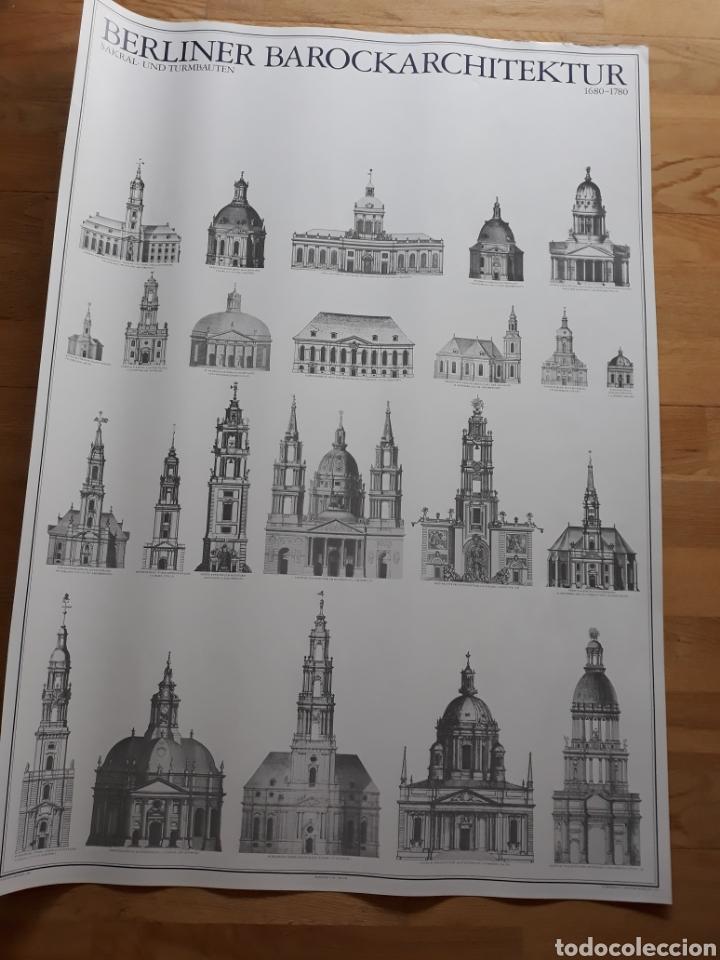 PÓSTER / CARTEL ARQUITECTURA BARROCA DE BERLÍN. EDICIONES LIDIARTE 1987. (Coleccionismo - Carteles Gran Formato - Carteles Varios)