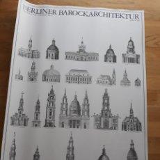 Carteles: PÓSTER / CARTEL ARQUITECTURA BARROCA DE BERLÍN. EDICIONES LIDIARTE 1987.. Lote 120414555