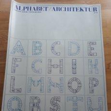 Carteles: PÓSTER/ CARTEL ALFABETO ARQUITECTÓNICO. JOHANN DAVID STEINGRUBER. EDICIONES LIDIARTE 1984.. Lote 120416263