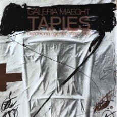 Carteles: CARTEL GALERÍA MAEGHT - 1981 - ANTONI TÀPIES. Lote 121737479
