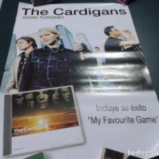 Carteles: POSTER CARTEL 68 X 48 CM PROMOCIONAL POLYGRAM ( THE CARDIGANS - GRAN TURISMO ) 1998. Lote 122099831
