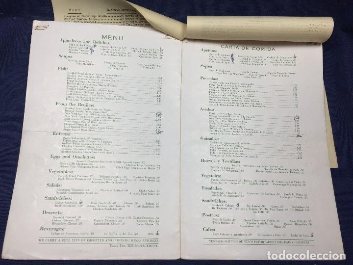 Carteles: MENU RESTAURANTE EL TOLEDO SPANISH AMERICAN MIAMI FLORIDA AÑOS 50 30,5X20,5CMS - Foto 3 - 122215599