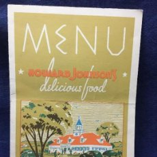 Carteles: MENU HOWARD JOHNSON S DELICIOUS FOOD LONG ISLAND NEW YORK 25,5X18CMS. Lote 122218955
